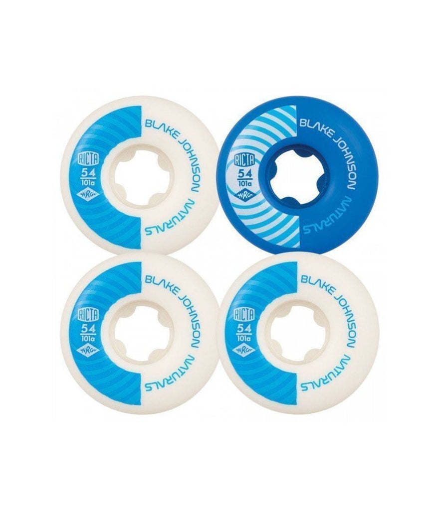 RICTA WHEELS - NATURALS - JOHNSONS - WHITE AND BLUE - 54MM/101A