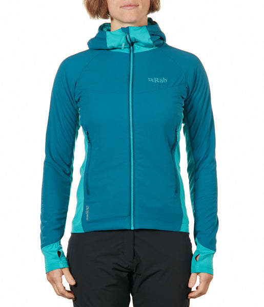 ALPHA FLUX HOODY WOMEN'S - BLAZON/ SEAGLASS