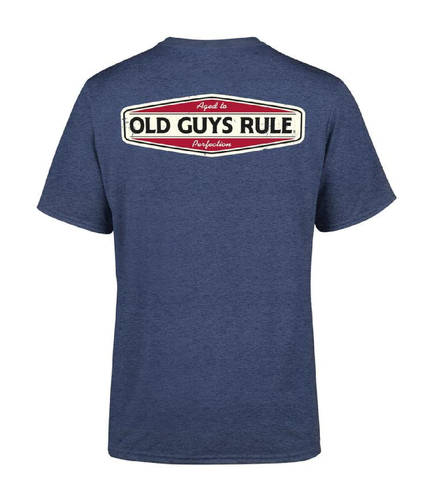 AGED TO PERFECTION 2 T-SHIRT -HEATHER NAVY
