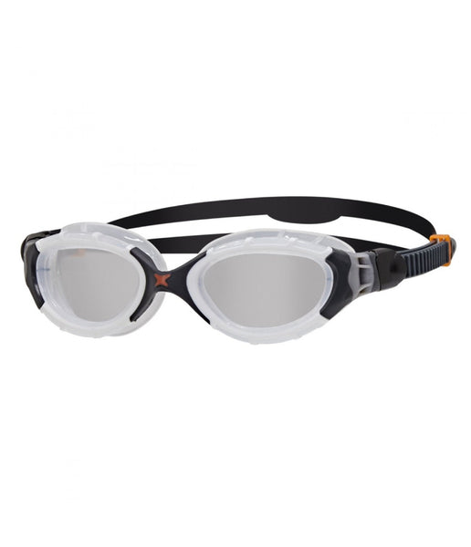 PREDATOR FLEX - CLEAR LENS - BLACK/WHITE FRAME