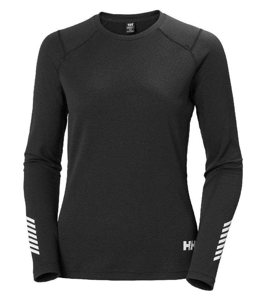 WOMEN'S LIFA ACTIVE CREW - EBONY