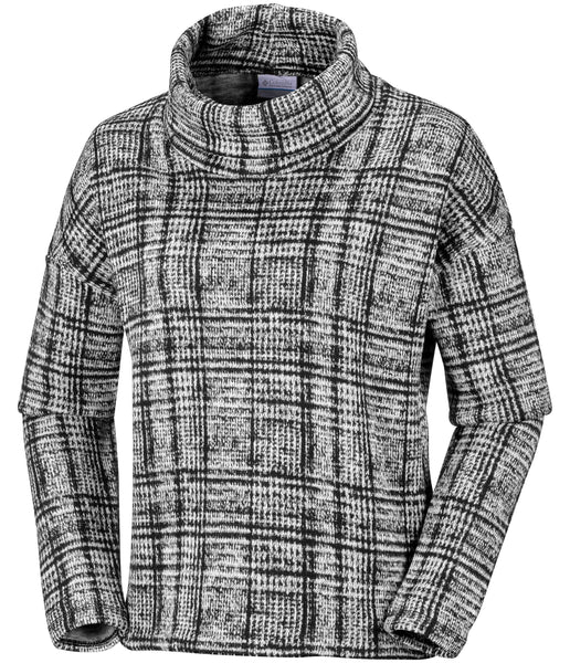 WOMEN'S CHILLIN FLEECE PULLOVER - BLACK PLAID