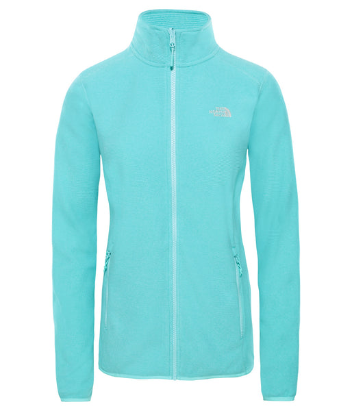 WOMEN'S 100 GLACIER FULL ZIP - MINT BLUE STRIPE