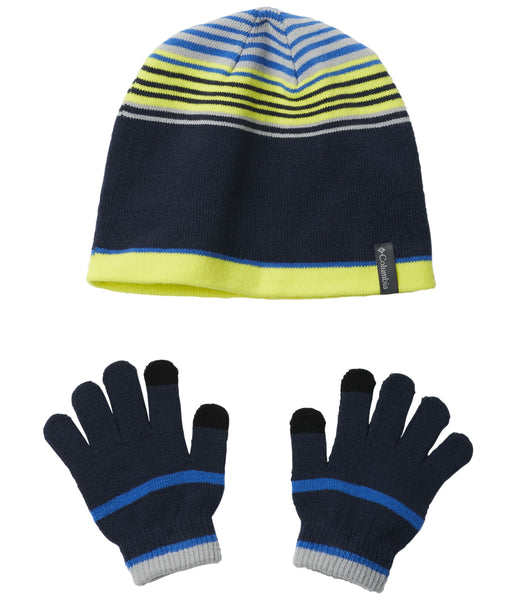 YOUTH HAT AND GLOVE SET - NAVY