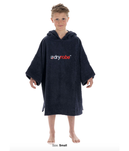DRYROBE SHORT SLEEVED PONCHO TOWEL ROBE - SMALL