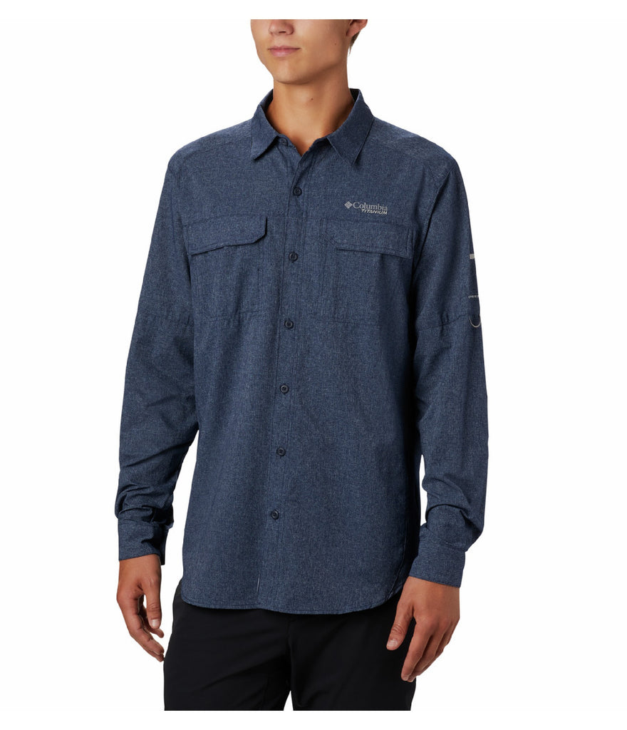 IRICO MEN'S SHORT LONG SLEEVE SHIRT - COLLEGIATE NAVY