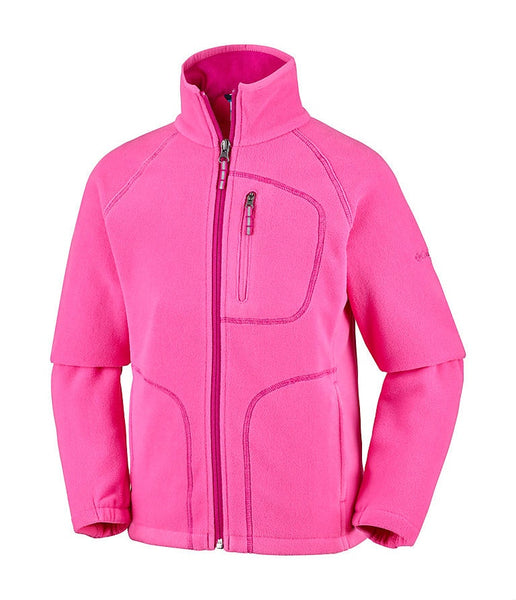 KID'S FAST TREK II FULL ZIP FLEECE - WILD GERANIUM, HAUTE PINK