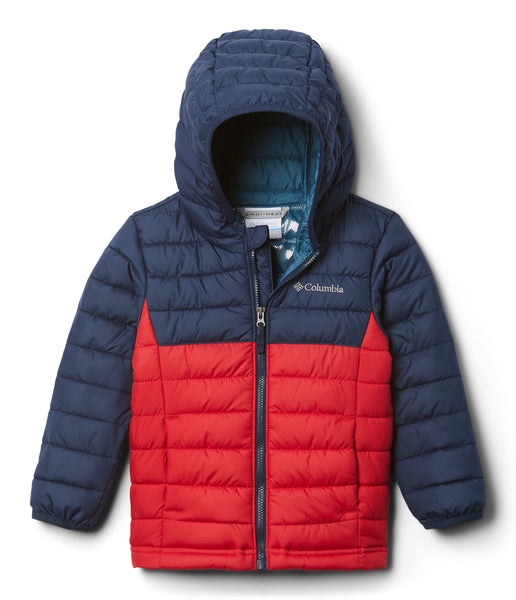 TODDLER POWDER LITE BOY'S HOODED JACKET (AGES 2-4) - MOUNTAIN RED