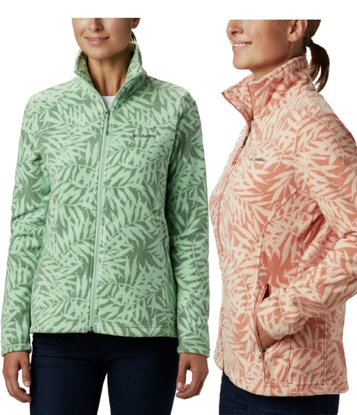WOMEN'S FAST TREK LIGHT PRINTED FULL ZIP FLEECE