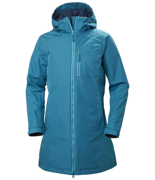 WOMEN'S LONG BELFAST WINTER JACKET - BLUE WAVE