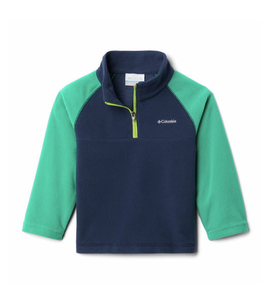 BOY'S GLACIAL HALF ZIP NAVY (AGES 10-16)