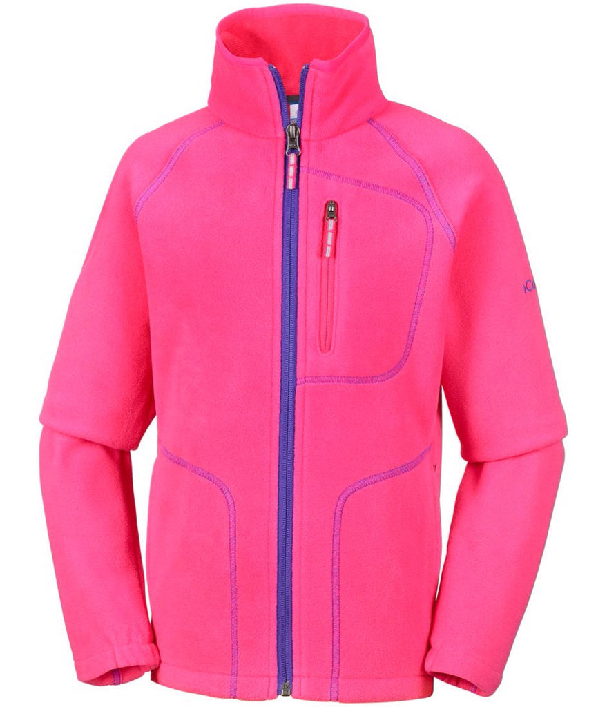 YOUTH FAST TREK II FULL ZIP - PUNCH PINK (AGES 14 TO 18)