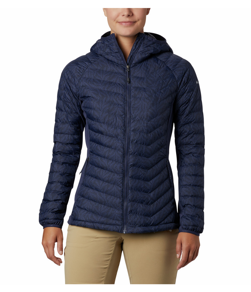 WOMEN'S POWDER PASS HOODED JACKET - NOCTURNAL FERNY
