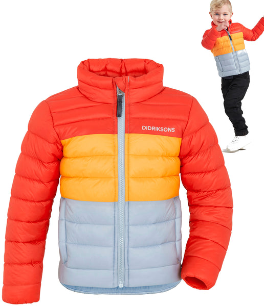PUFF KID'S JACKET - ORANGE/YELLOW/GREY