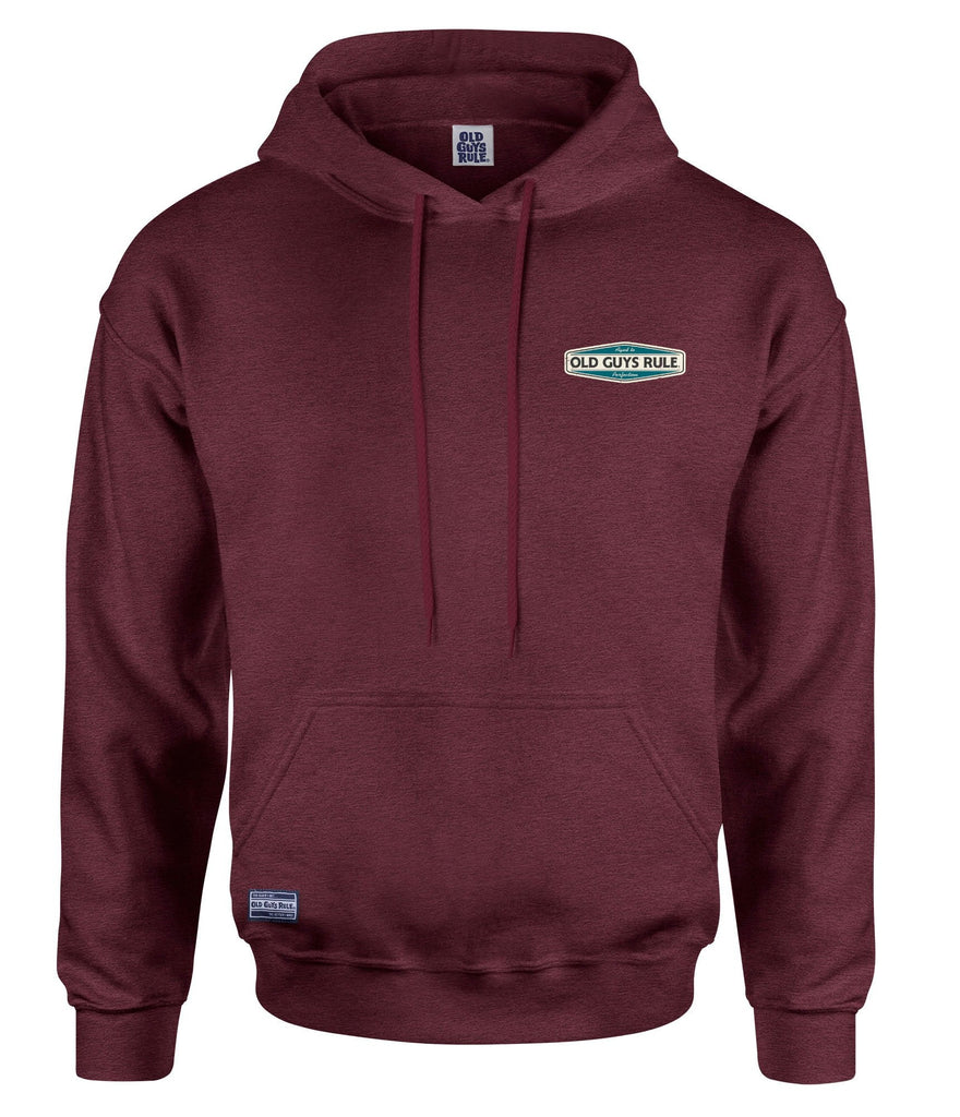 AGED TO PERFECTION HOODIE - HEATHER BURGUNDY