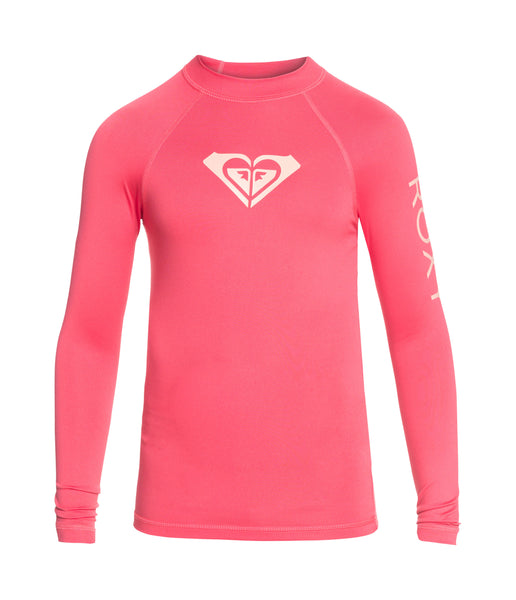 GIRL'S WHOLE HEARTED LONG SLEEVE RASHVEST - ROUGE RED