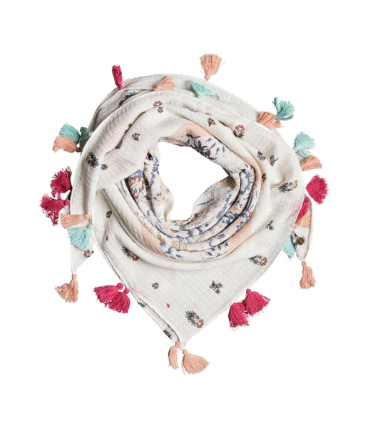 WOMEN'S ON THE BOAT SCARF - MARSHMALLOW MAHNA MAHNA