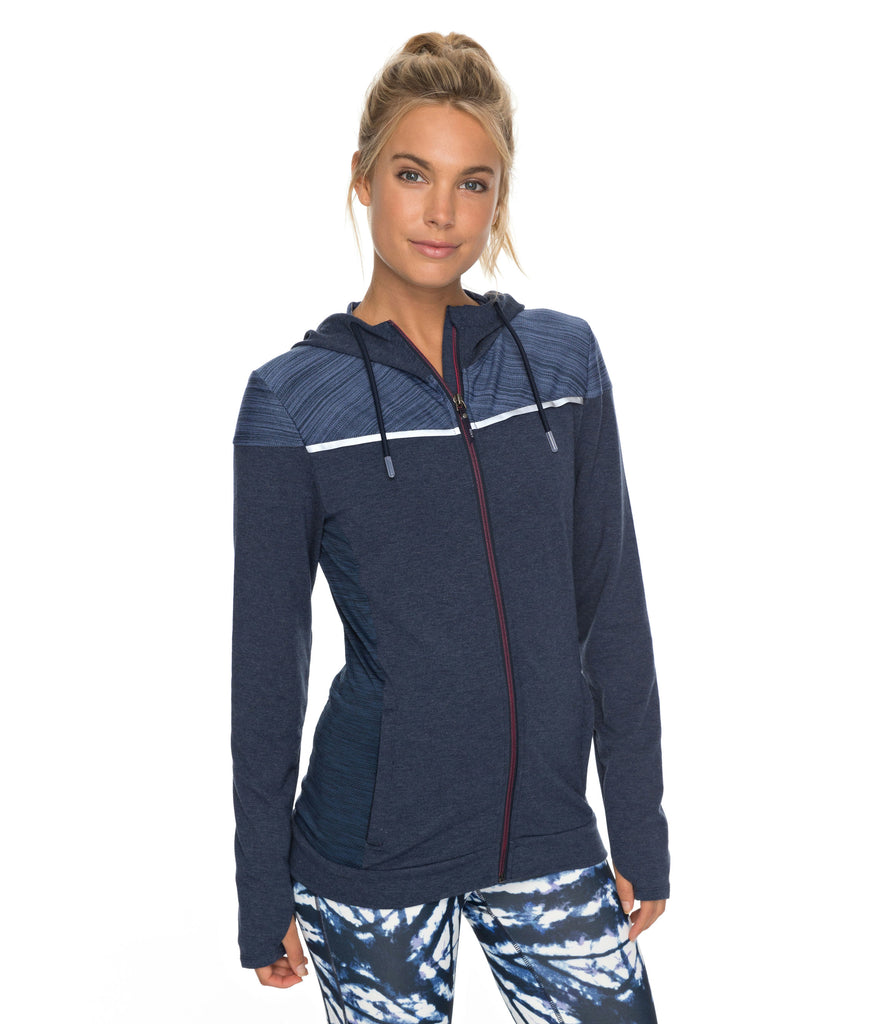 WOMEN'S CRAZY FEELING FLEECE - DRESS BLUES