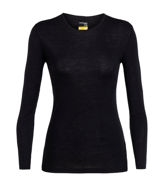 WOMEN'S 175 EVERYDAY LONG SLEEVE CREW - BLACK