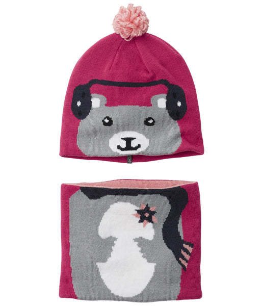 TODDLER SNOW MORE BEANIE AND GAITER SET - CACTUS PINK