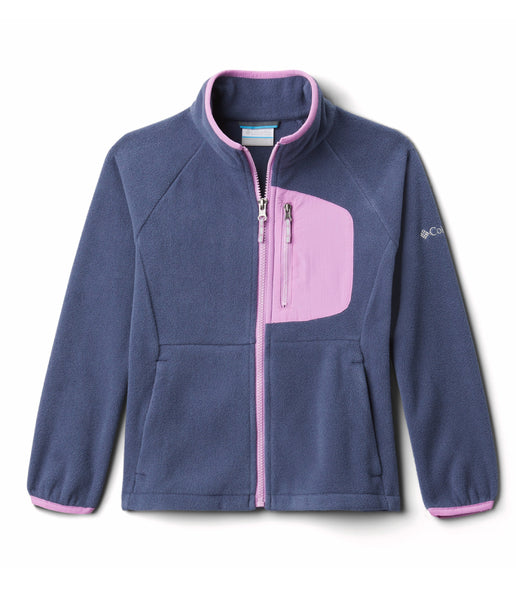 KID'S FAST TREK III FLEECE FULL ZIP (AGES 4-10) - NOCTURNAL BLOSSOM