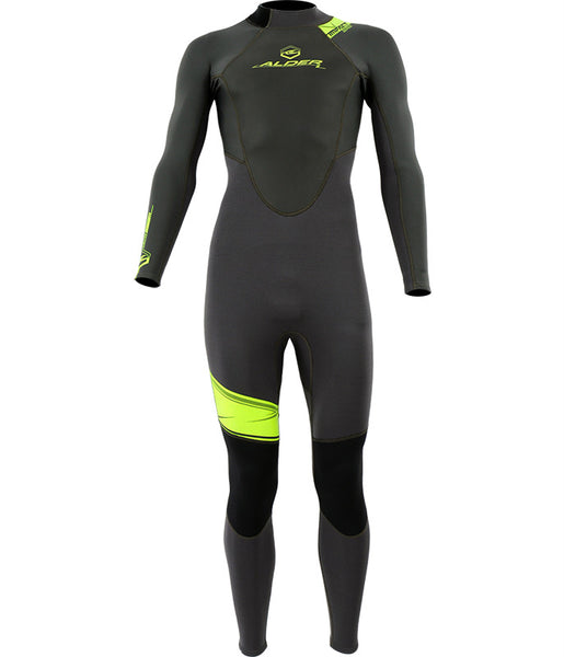 MEN'S IMPACT 50 FULL ADULT 3/2MM WETSUIT - BLACK/GREEN
