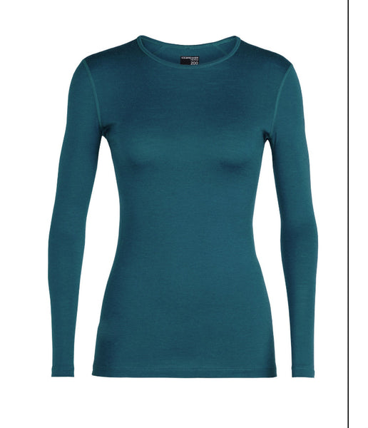 WOMEN'S 200 OASIS LONG SLEEVE CREW - KINGFISHER BLUE