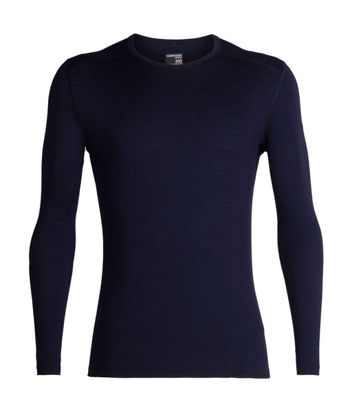 MEN'S 200 OASIS LONG SLEEVED CREW - MIDNIGHT NAVY