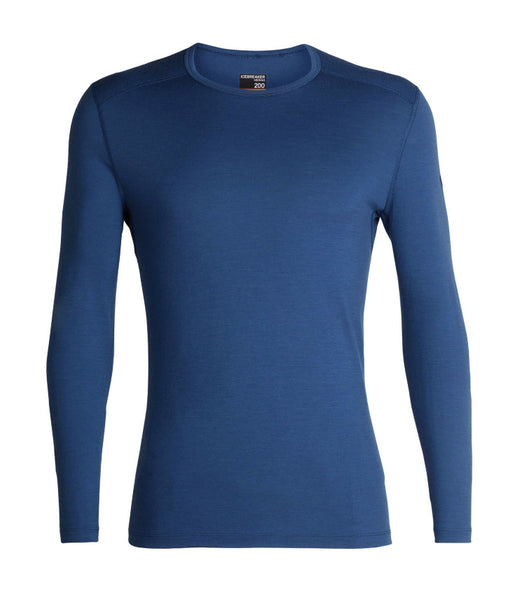 MEN'S 200 OASIS LONG SLEEVED CREW - PRUSSIAN BLUE