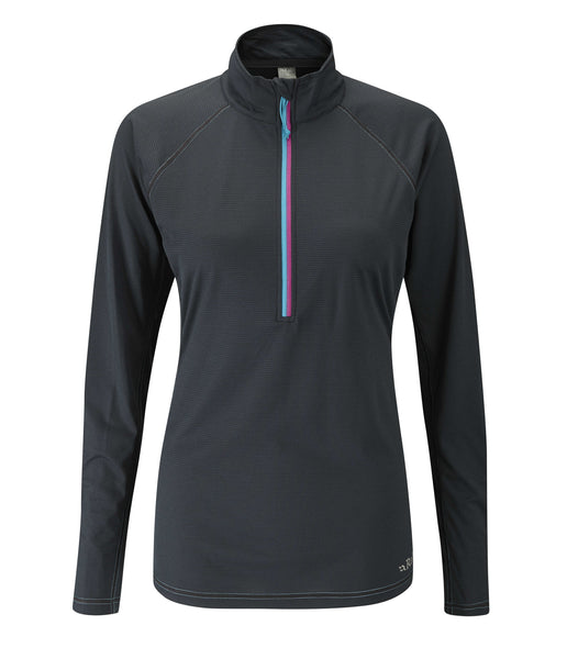 WOMEN'S INTERVAL LONG SLEEVE ZIP TEE