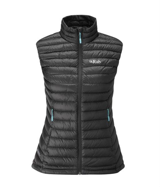 WOMEN'S MICROLIGHT VEST - BLACK/SEAGLASS