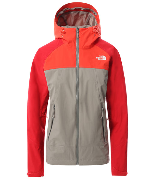 WOMEN'S STRATOS JACKET - MINERAL GREY/FLARE