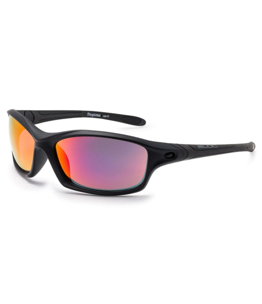 DAYTONA XMPR60 POLARISED SUNGLASSES - BLACK FRAME/RED MIRROR LENS