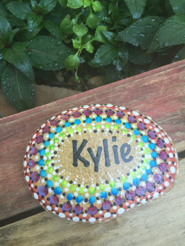 Personalized Name Rock - Dots