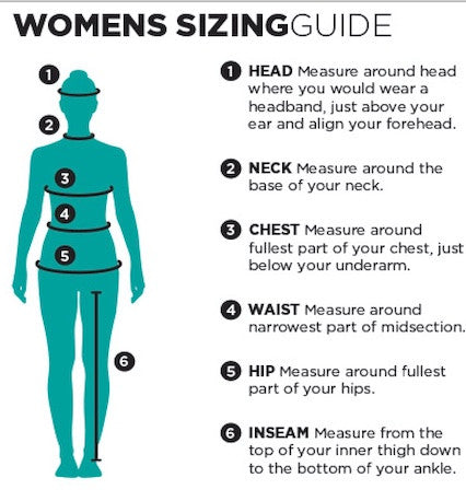 Ride Engine Womens Wetsuit Size Guide