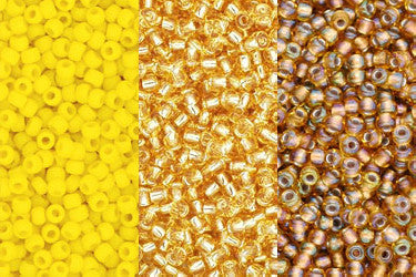2. Yellow & Gold Beads