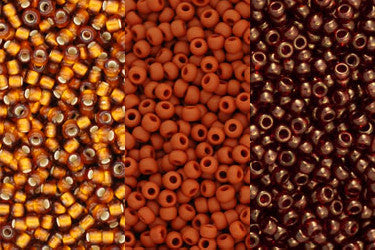 3. Orange, Gold, Bronze & Copper Beads