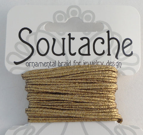 Soutache 275cm Textured Matte Gold