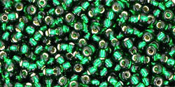 Green Emerald Silver Lined