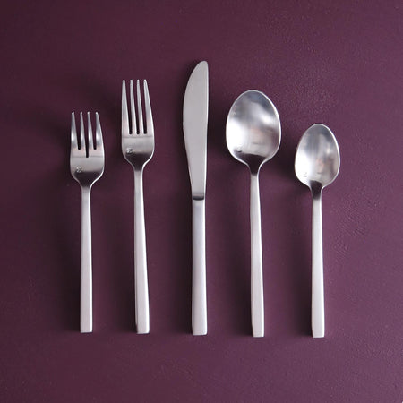 Arezzo 5pc Flatware Set / Brushed Stainless