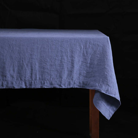 Stonewashed Linen Tablecloths / Blueberry