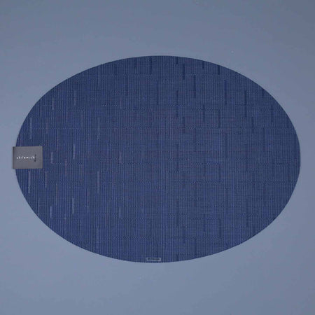 Chilewich Vinyl Placemats / Bamboo Lapis Oval