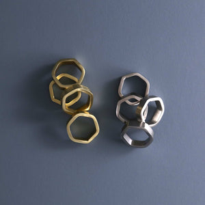 Hexagon Napkin Ring Set ( 4pc )