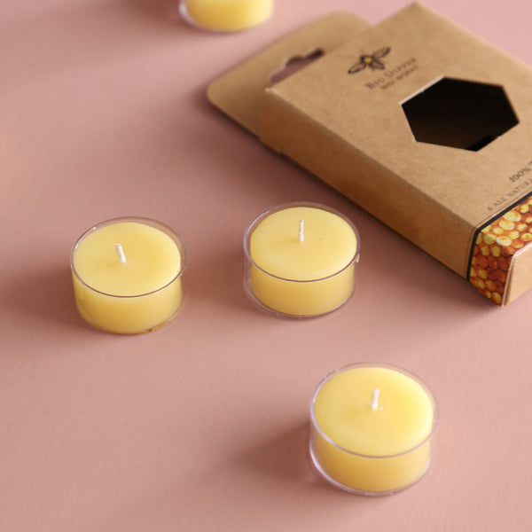 Beeswax Tea Light Candle 6pk