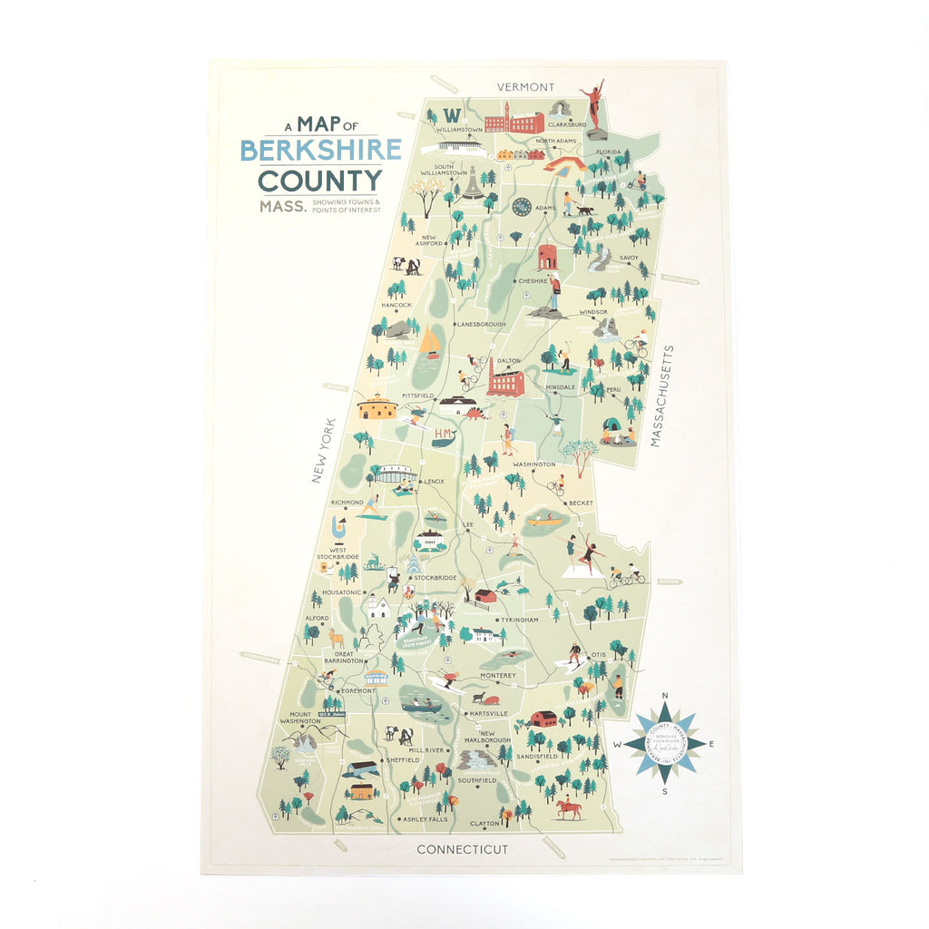 Map of the Berkshires Poster