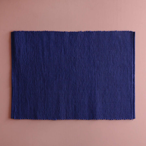 Cotton Spectrum Placemats / Indigo Blue