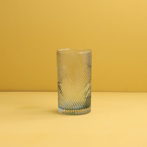Finley Hand Blown Highball Glass / Light Grey