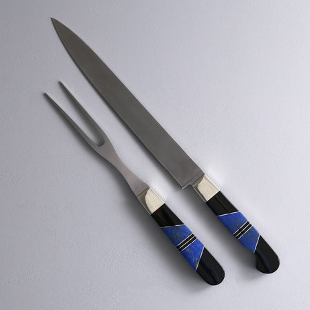 Lapis and Jet Carving Set