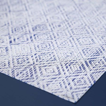 Chilewich Vinyl Placemats / Blue Mosaic Rectangle
