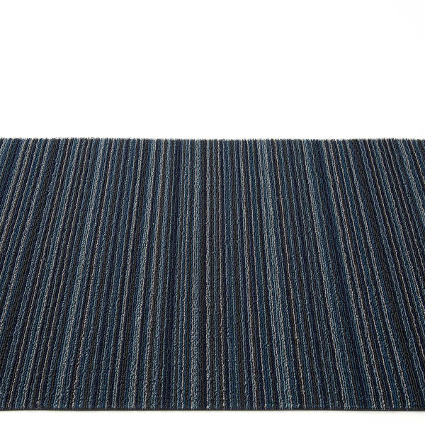 Chilewich Shag Rugs /  Skinny Stripe Blue